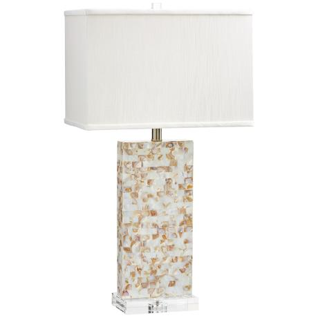mother of pearl table lamps photo - 2
