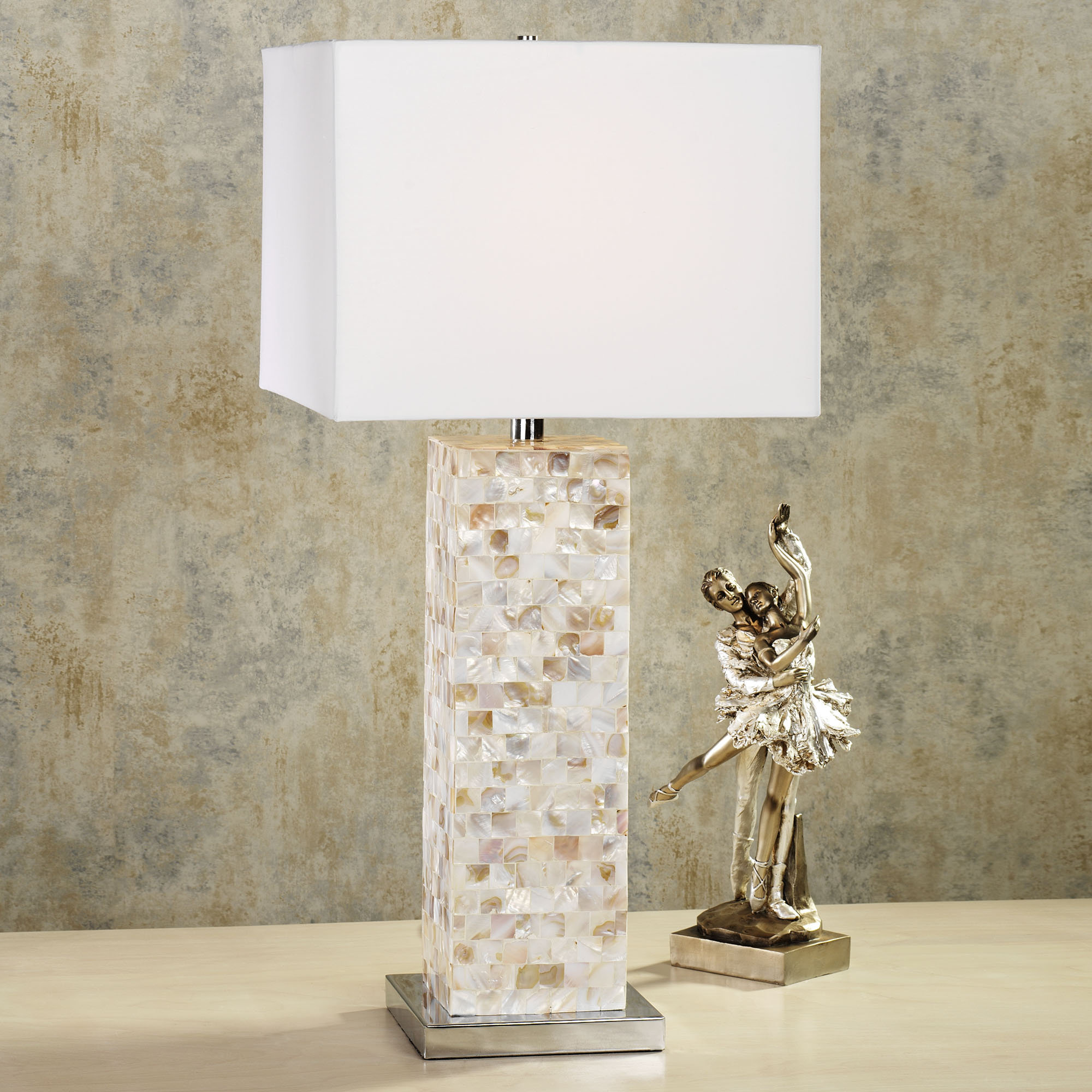 mother of pearl table lamps photo - 5