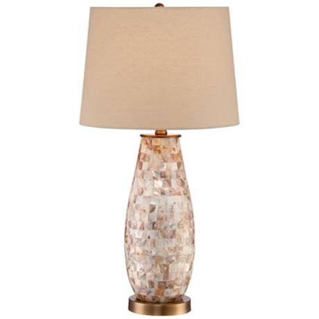 mother of pearl table lamps photo - 6