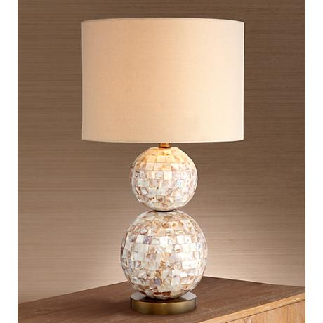 mother of pearl table lamps photo - 9
