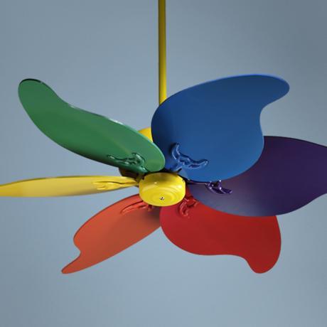 multi colored ceiling fan photo - 1