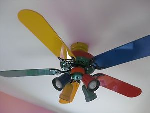 Multi colored ceiling fan for the style of your rooms warisan lighting multi colored ceiling fan photo 3 aloadofball Gallery