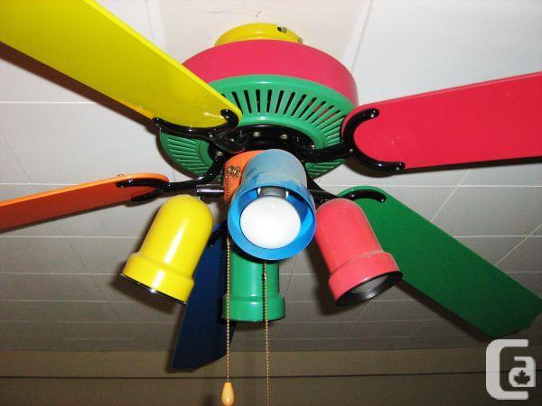Multi Colored Ceiling Fan Warisan Lighting