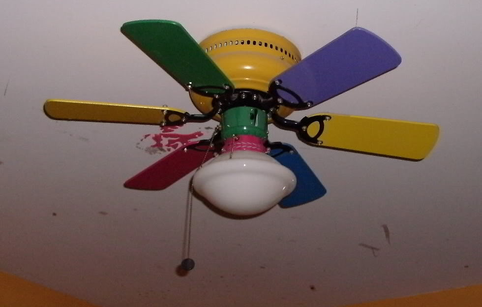 multi colored ceiling fan photo - 8
