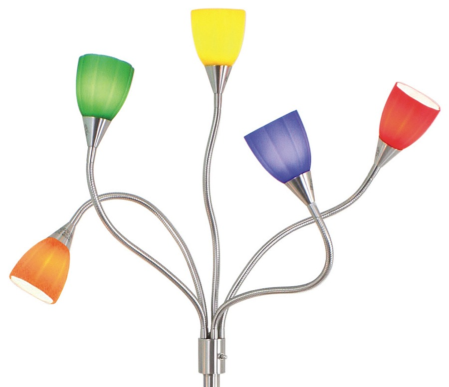 Colored Floor Lamps: multi colored floor lamp photo - 5,Lighting