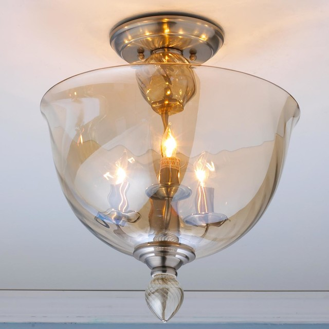 murano glass ceiling light photo - 1