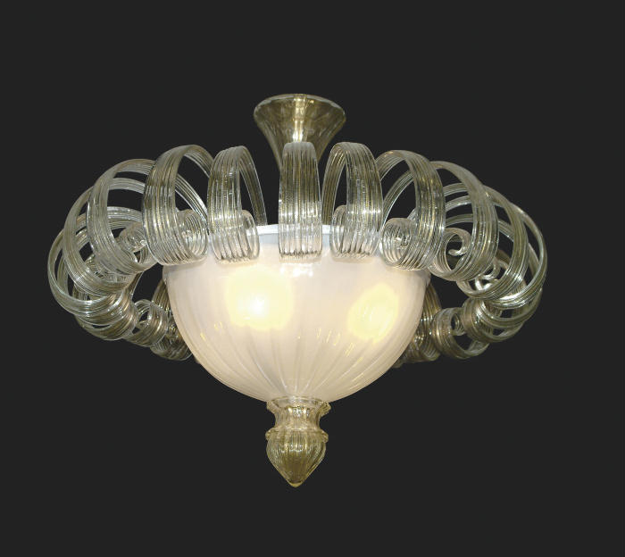 murano glass ceiling light photo - 8