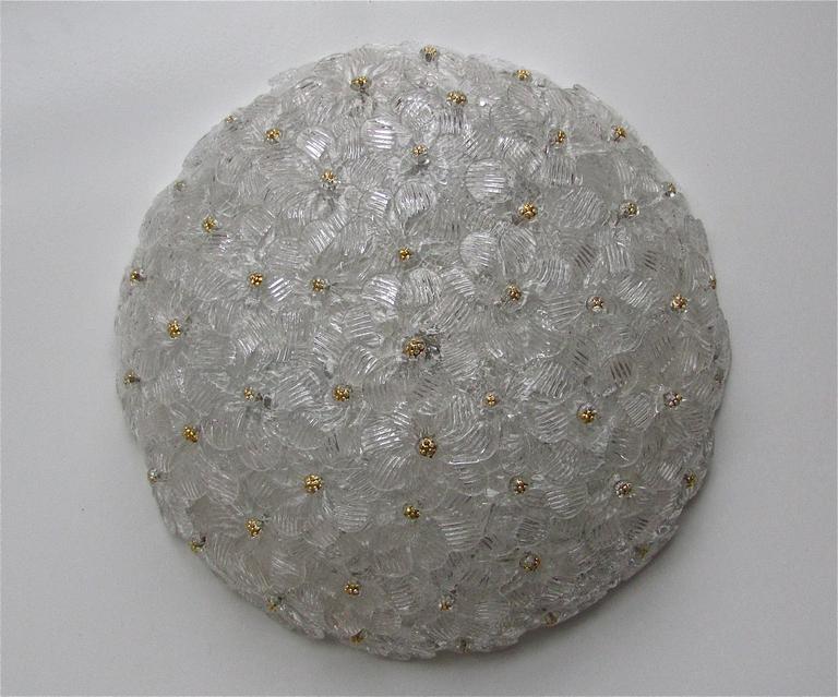 murano glass ceiling light photo - 9