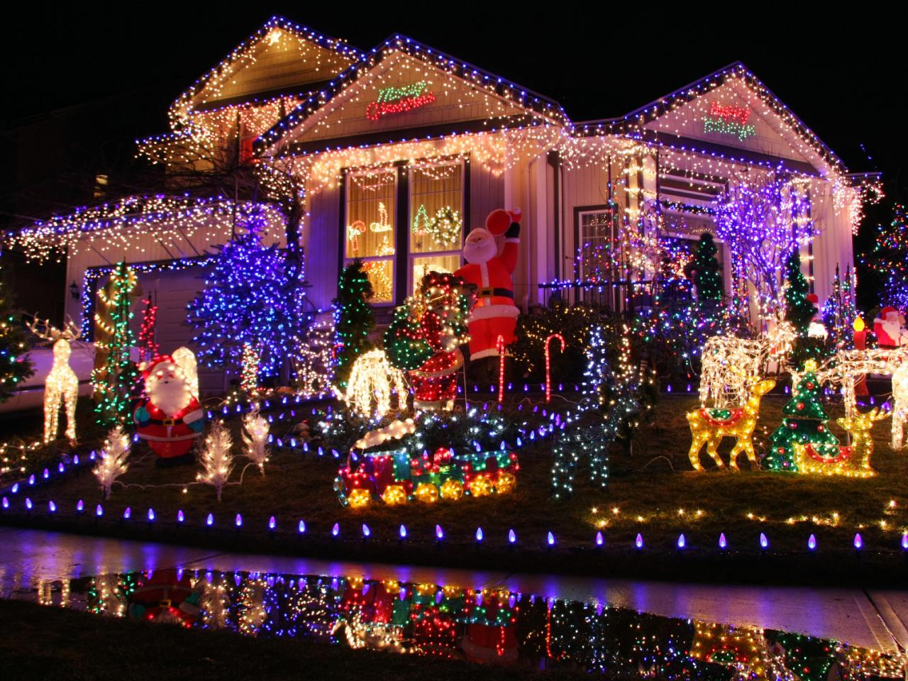 musical outdoor christmas lights photo - 10