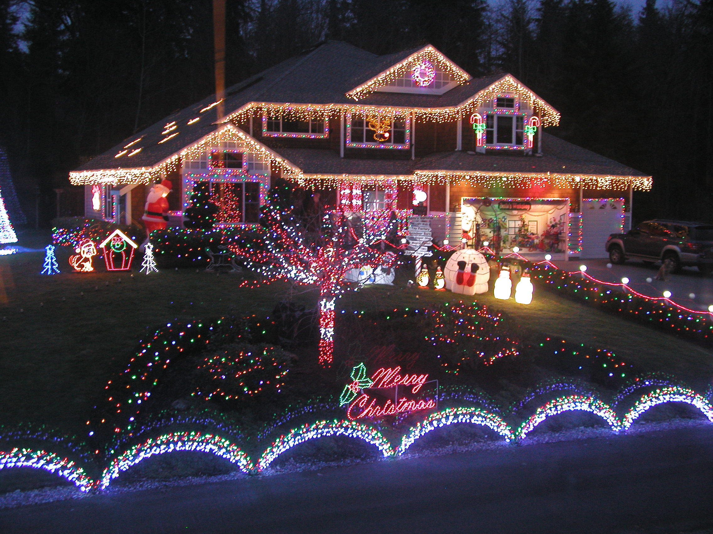 Musical Outdoor Christmas Lights Photo   3
