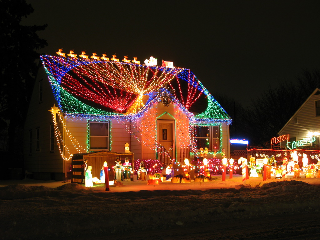 musical outdoor christmas lights photo - 8