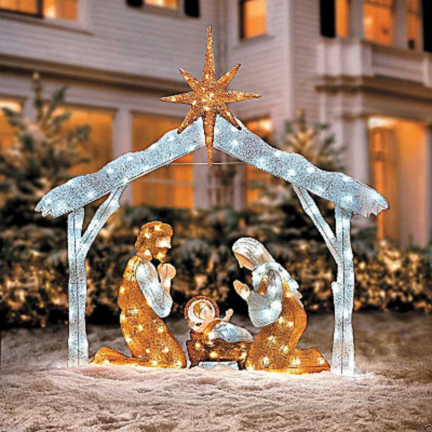 nativity outdoor lights photo - 3