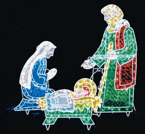nativity outdoor lights photo - 5