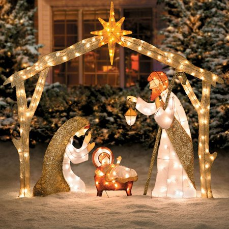 nativity outdoor lights photo - 7