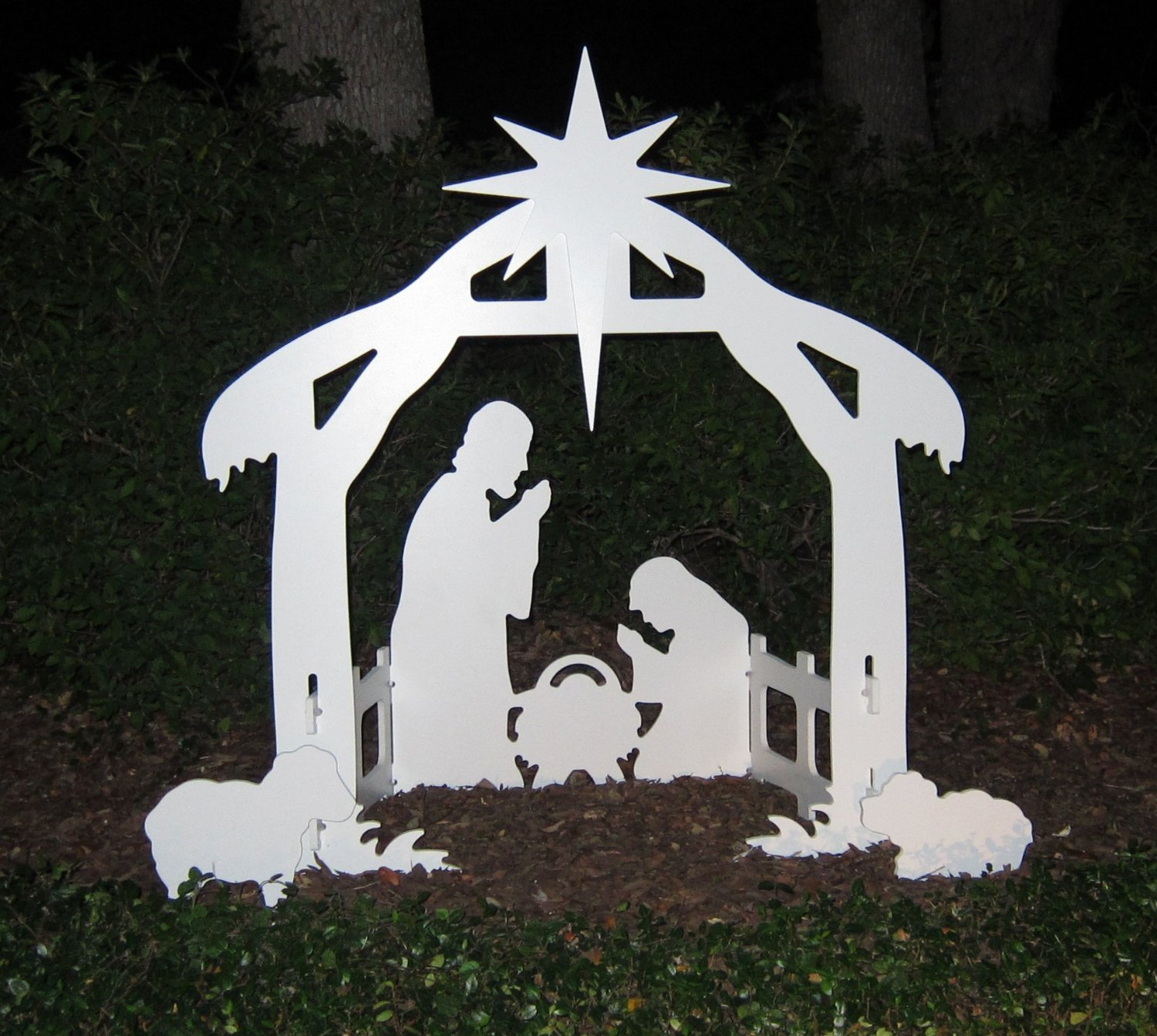 nativity outdoor lights photo - 8