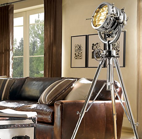 nautical tripod floor lamp photo - 1