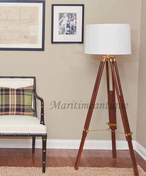 nautical tripod floor lamp photo - 3