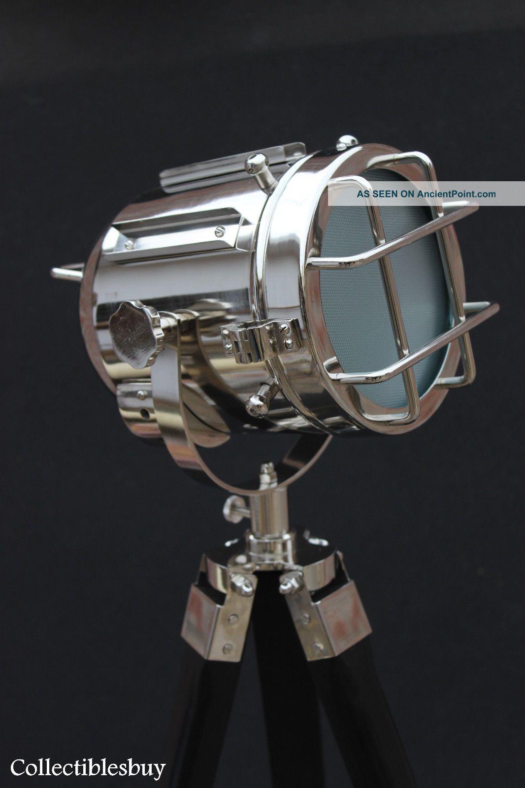 nautical tripod floor lamp photo - 4