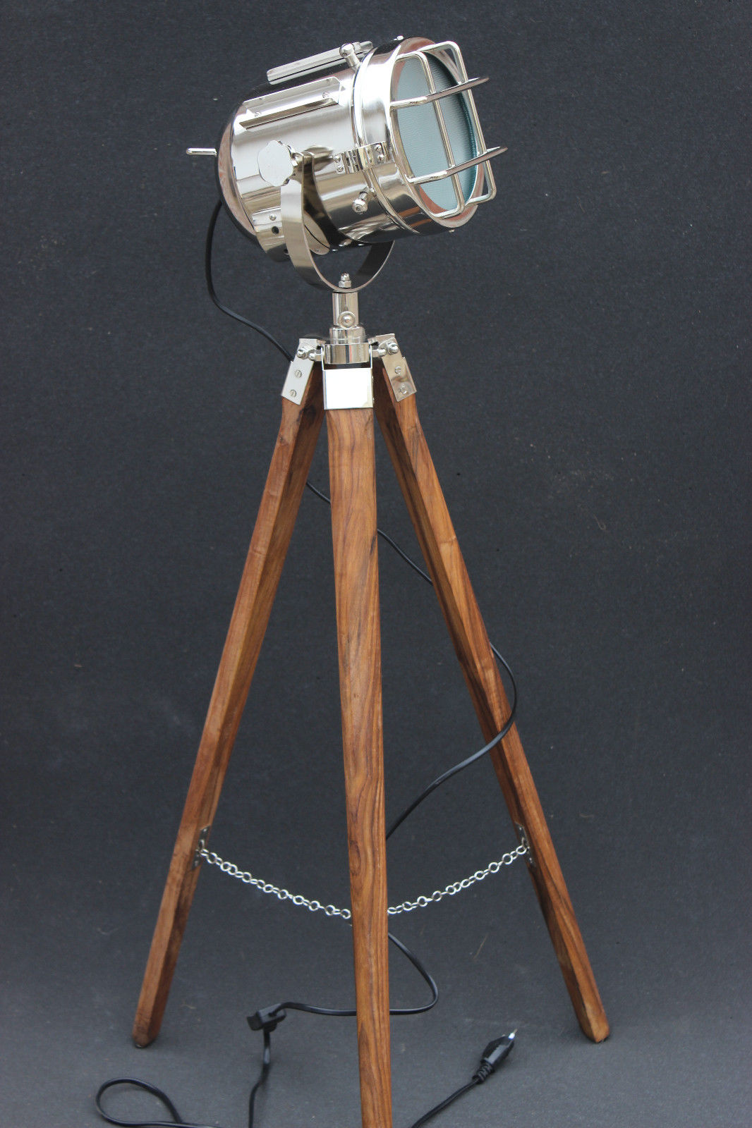 nautical tripod floor lamp photo - 9