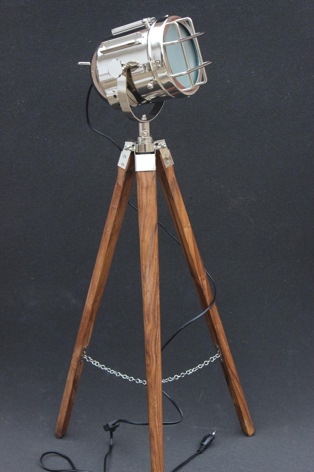 nautical tripod floor lamp photo - 9