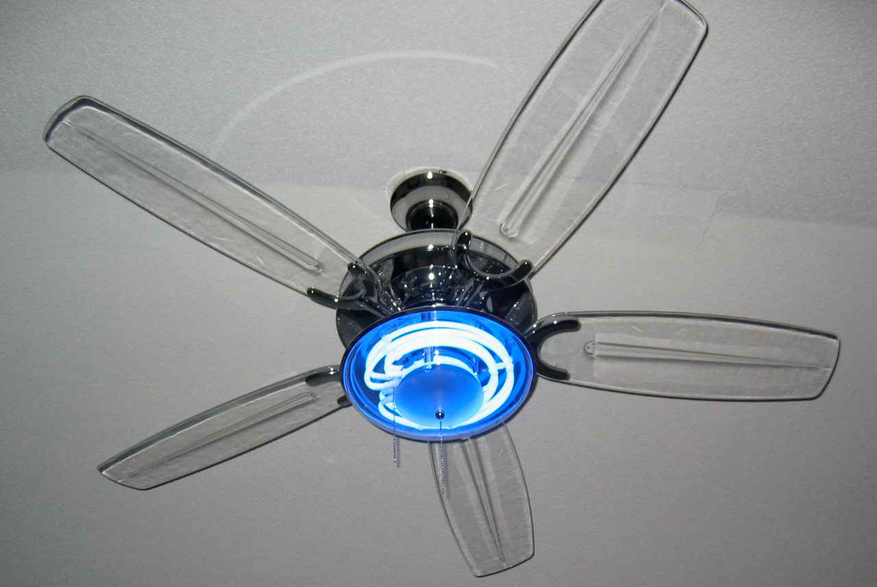 neon ceiling fan - add a statement to your room! | warisan lighting