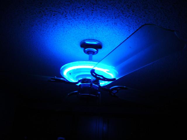 neon ceiling fan photo - 2