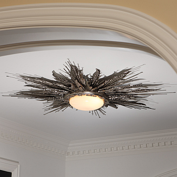 nickel ceiling lights photo - 3