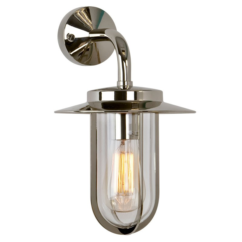nickel outdoor wall light photo - 6