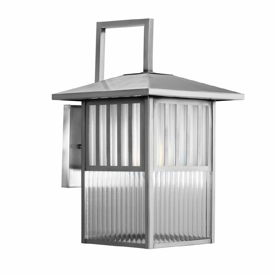 nickel outdoor wall light photo - 7