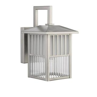 nickel outdoor wall light photo - 8