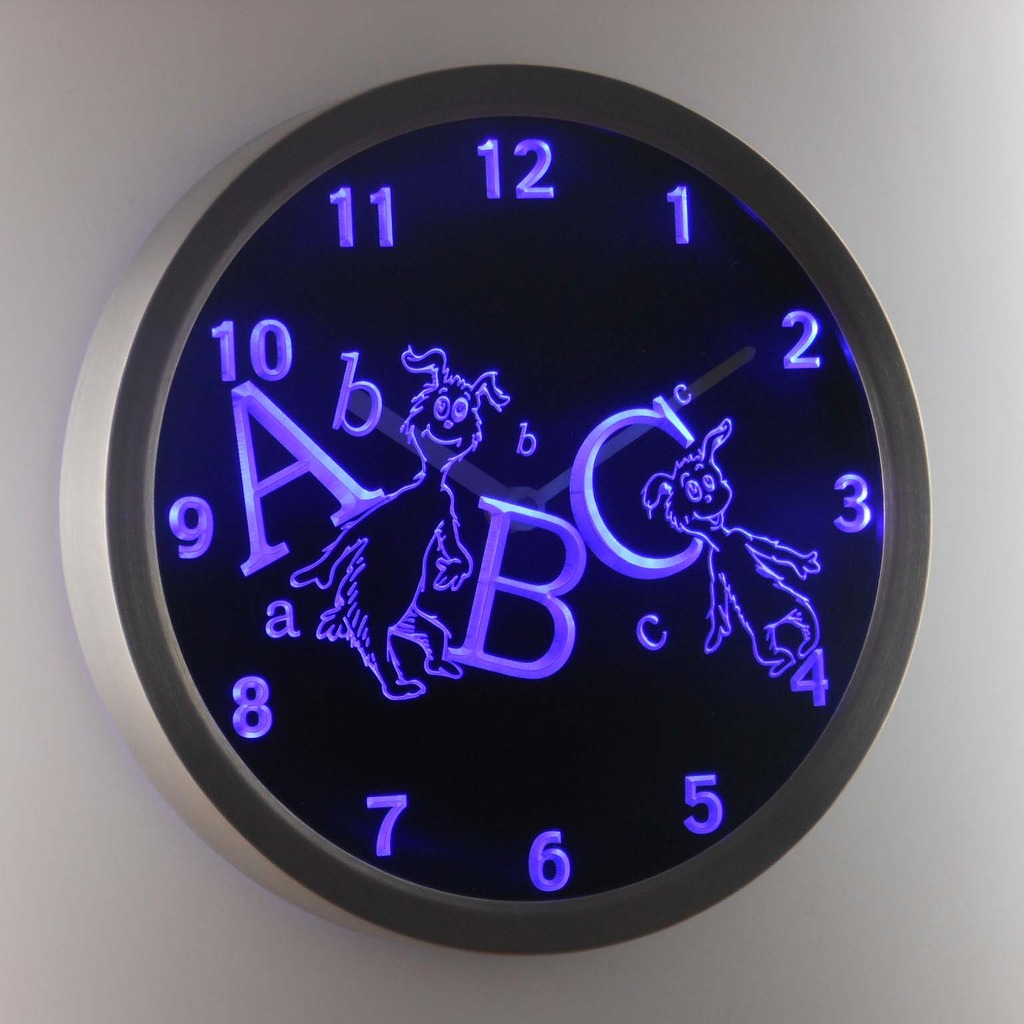 night light wall clock photo - 10