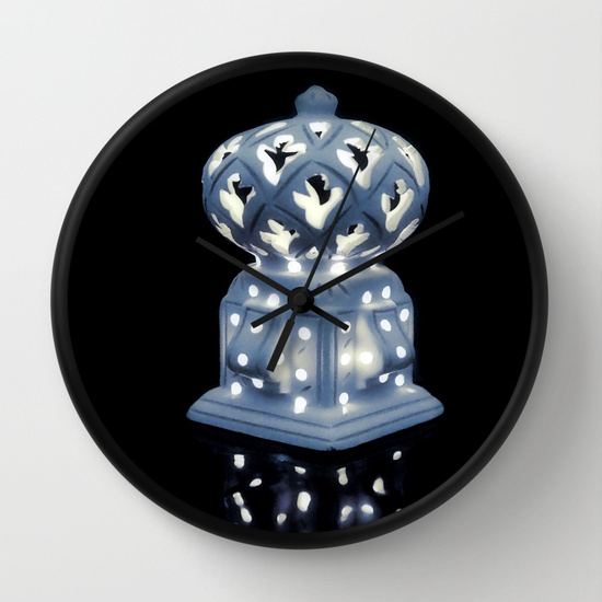 night light wall clock photo - 7