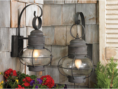 old fashioned outdoor lights photo - 4
