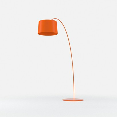 orange floor lamp photo - 1