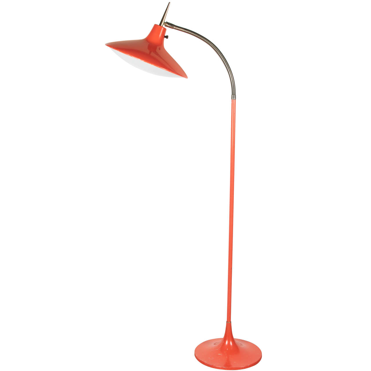 orange floor lamp photo - 2