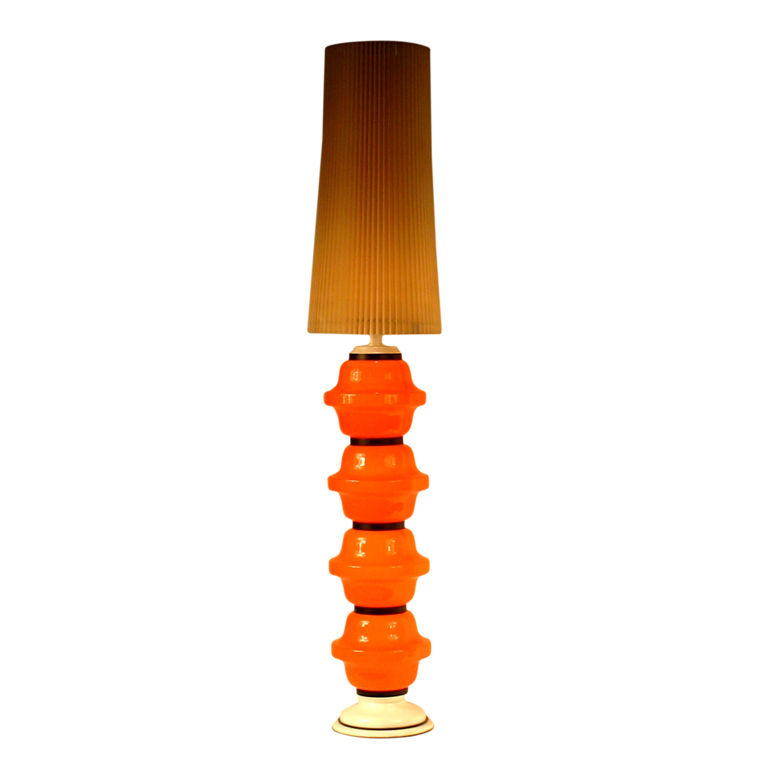 orange floor lamp photo - 7