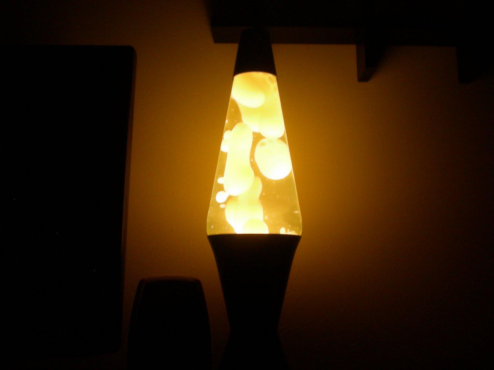 orange lava lamp photo - 4