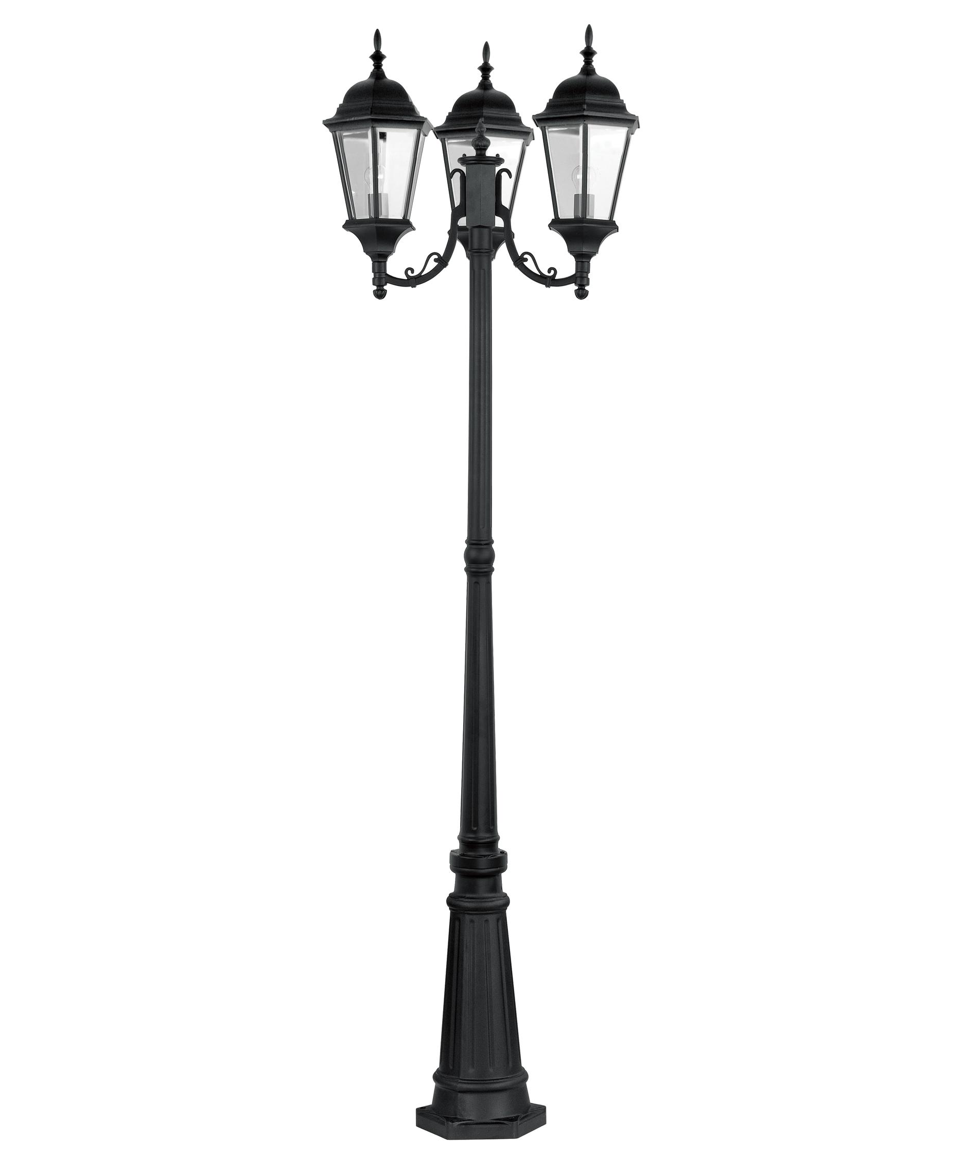 outdoor 3 light lamp post photo - 1
