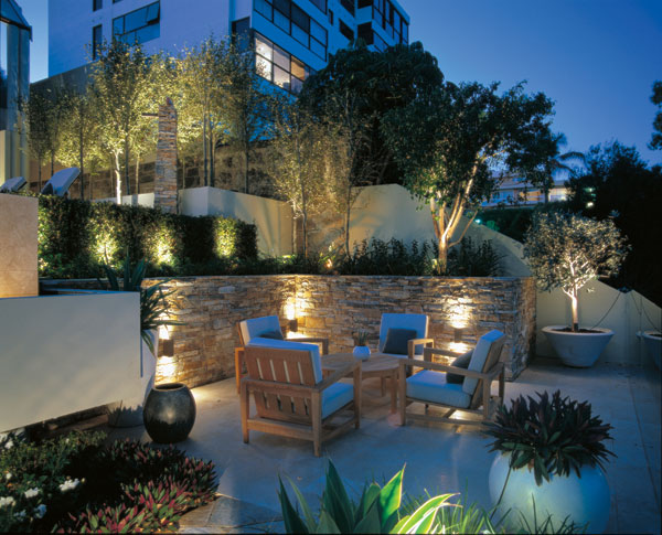 outdoor backyard lighting photo - 1