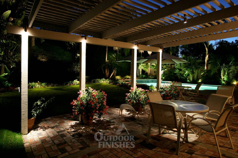 outdoor backyard lighting photo - 2