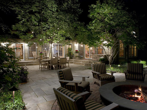 outdoor backyard lighting photo - 4