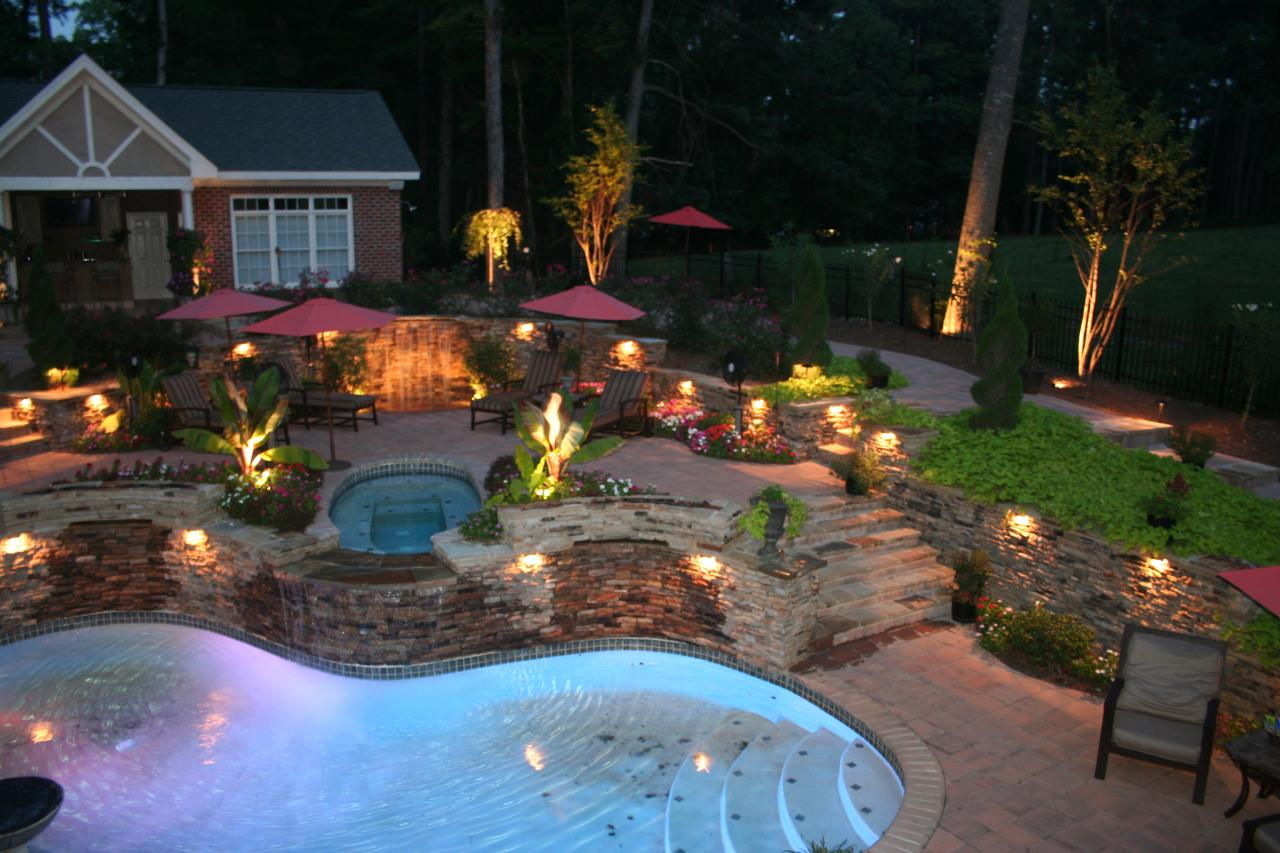 outdoor backyard lighting photo - 8