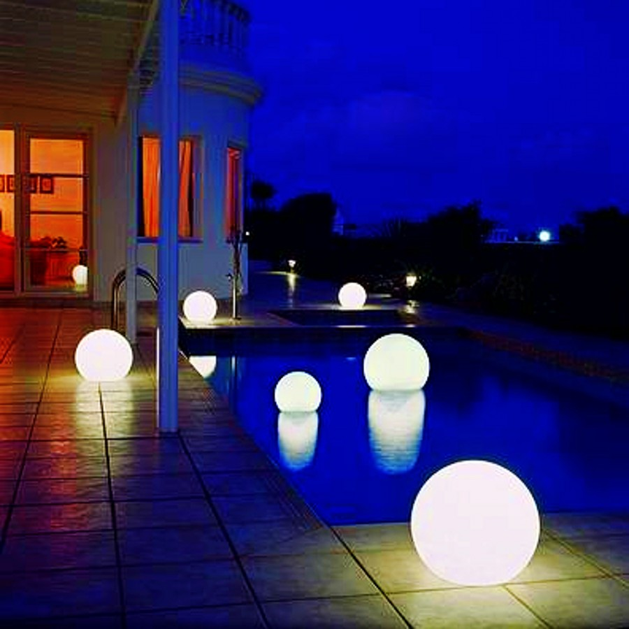 outdoor ball lights photo - 1