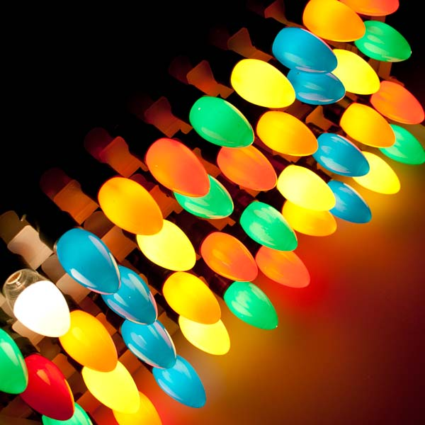 outdoor coloured lights