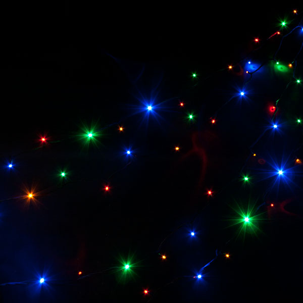 outdoor coloured lights photo - 8