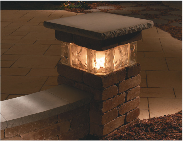 outdoor column lights photo - 2