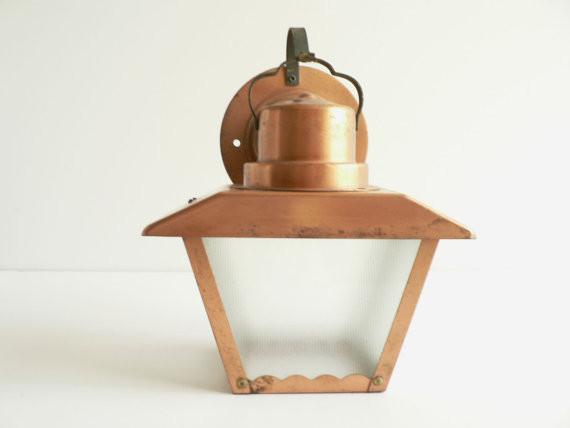 outdoor copper lights photo - 4