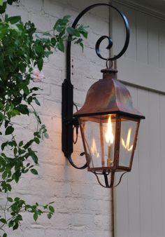 outdoor copper lights photo - 9