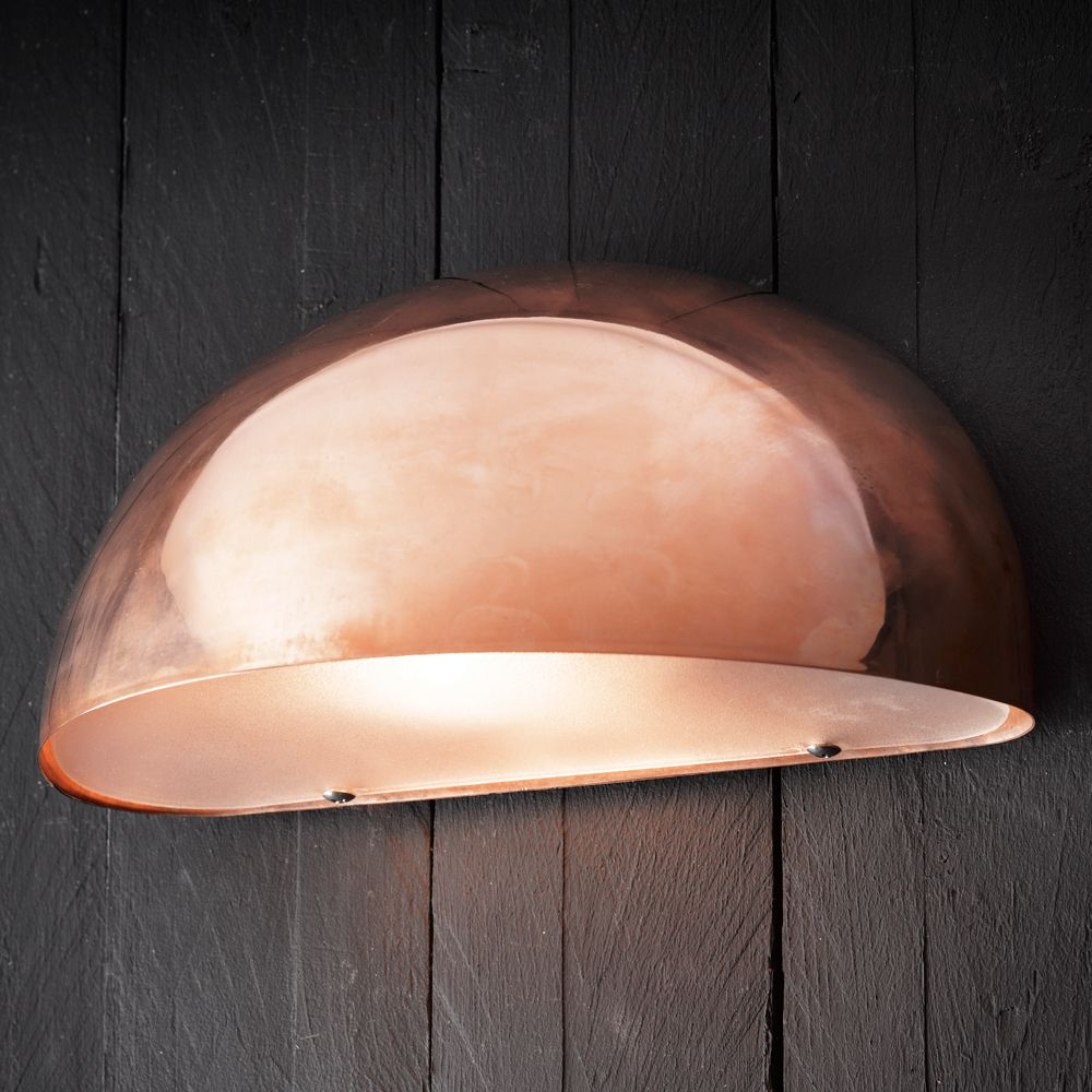 outdoor copper wall lights photo - 3