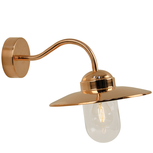 outdoor copper wall lights photo - 5